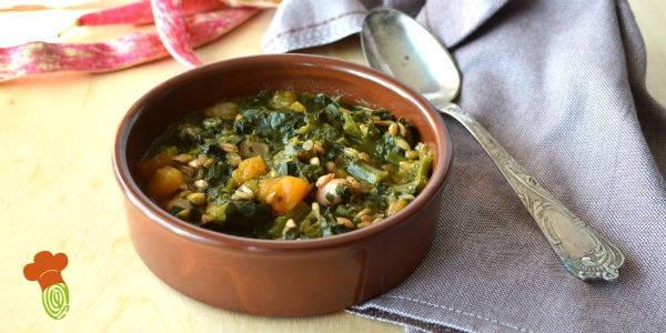 zuppa di farro e fagioli borlotti cover