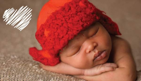 bimbi cappellini rossi1