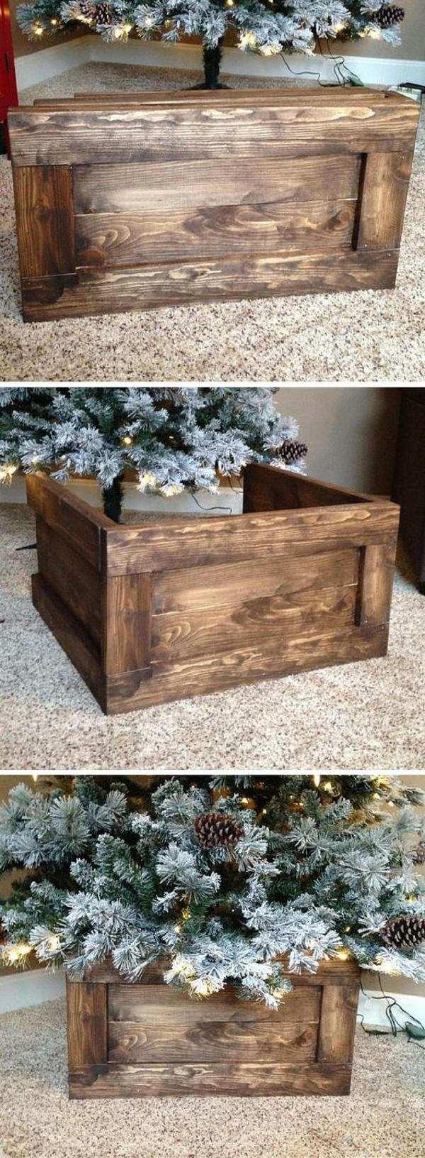 albero cassetta di legno