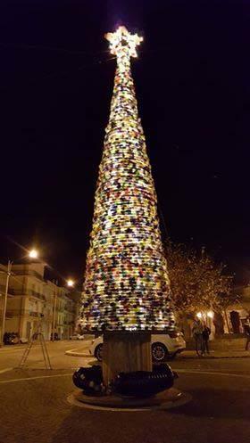 albero riciclo illuminato