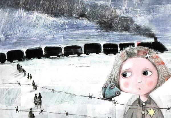 bambina treno
