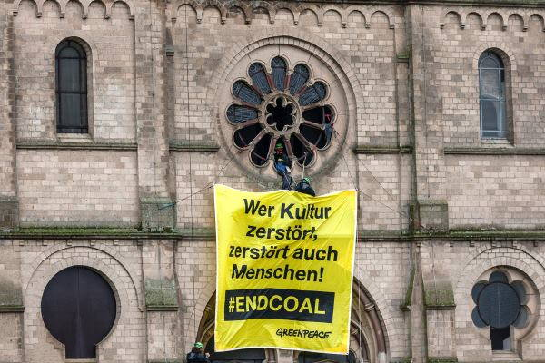 blitz greenpeace chiesa germania 2