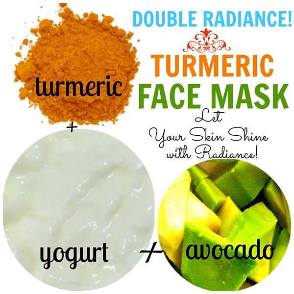 maschera curcuma yogurt avocado