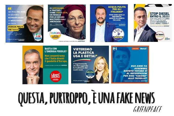 Greenpeace fake news elezioni
