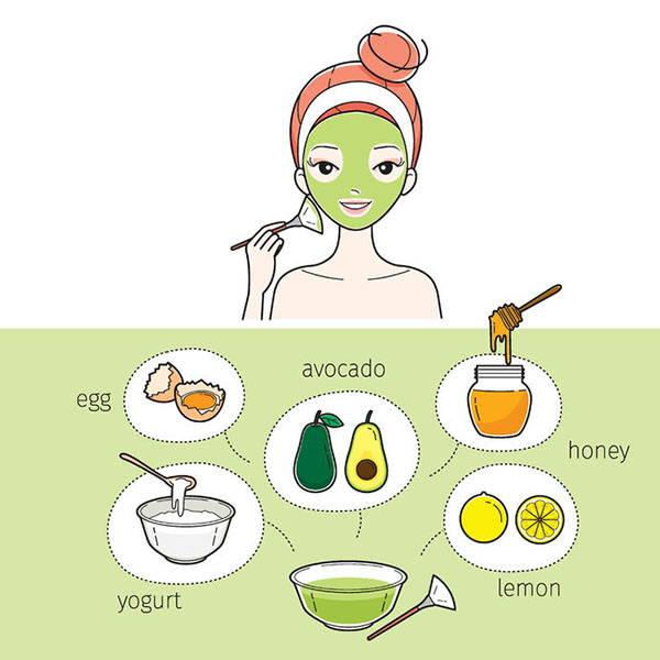 maschera avocado infografica