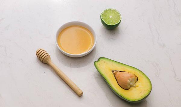 maschera avocado miele limone