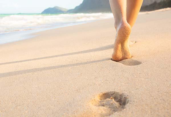 camminare sabbia