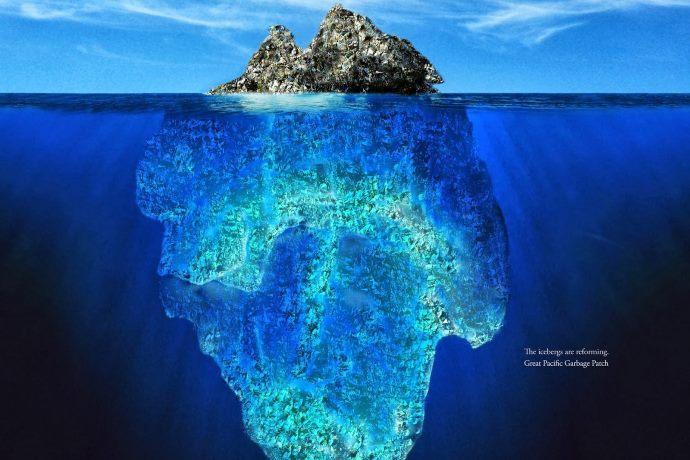 isola di plastica Pacifico