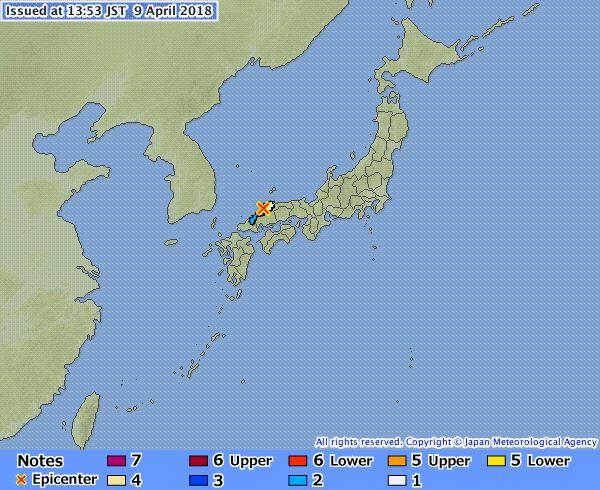 terremoto giappone 9 aprile