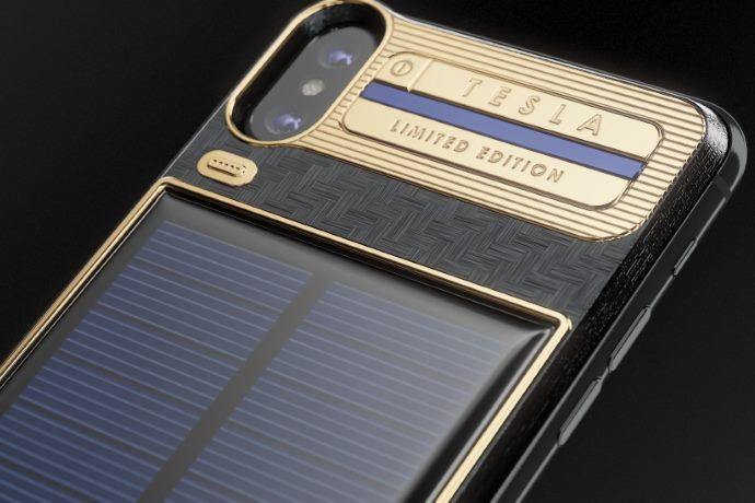 iphone x tesla batteria energia solare