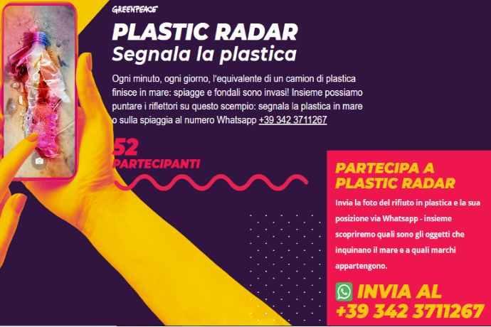 Plastic radar Greenpeace