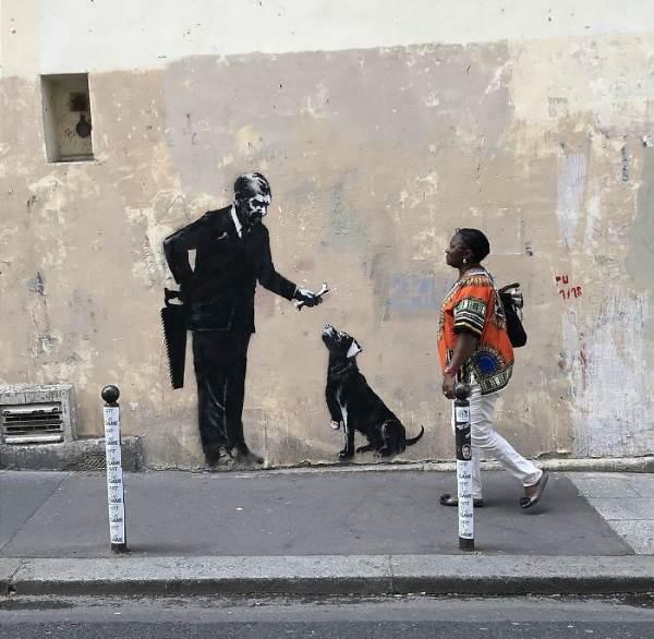 street art banksy parigi2