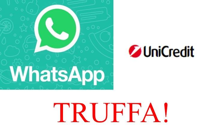 whatsapp truffa conti unicredit