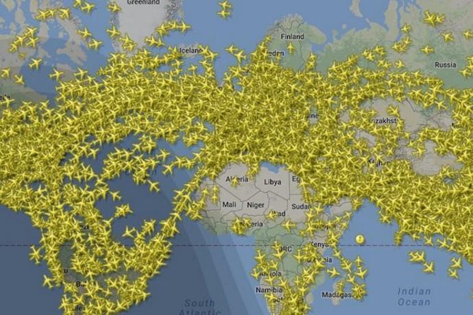record aerei traffico