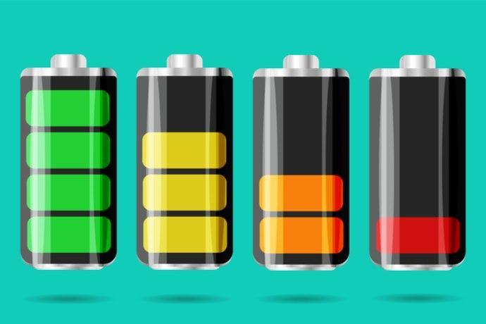 etichette batterie
