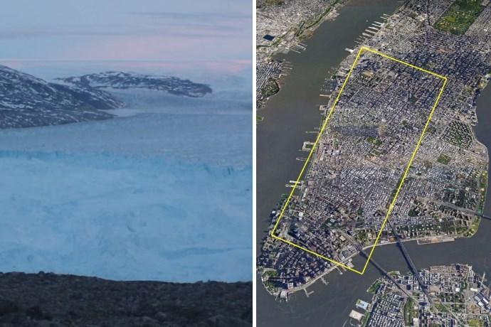 ghiacciaio staccato groenlandia