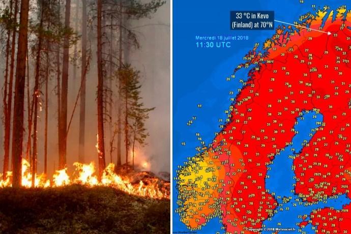 incendi caldo circolo polare artico