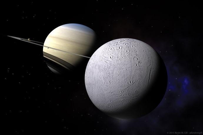 Saturno musica Encelado