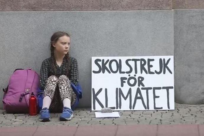 greta protesta clima