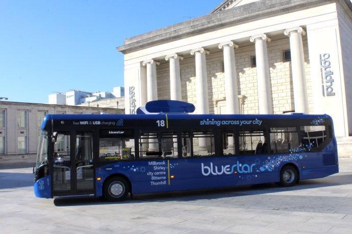bluestar autobus polveri sottili