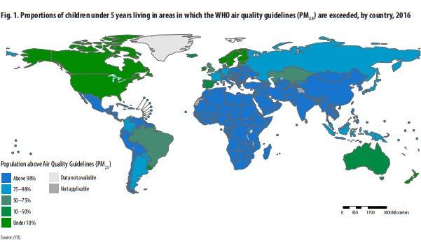 inquinamento bambini mappa