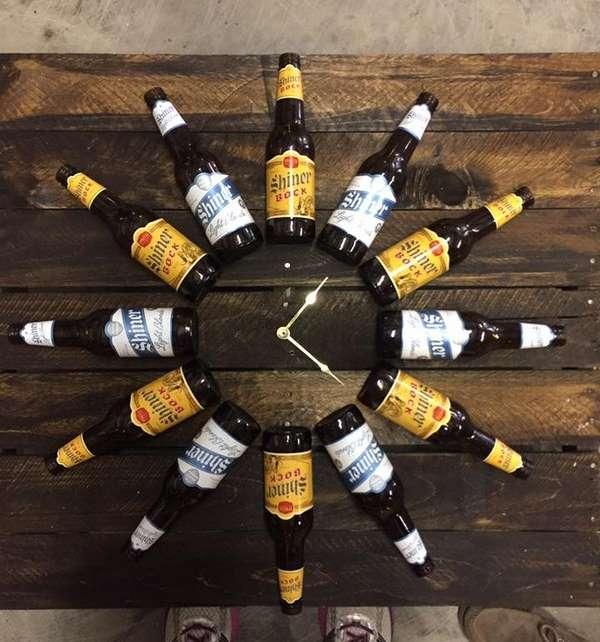 orologio riciclo birre