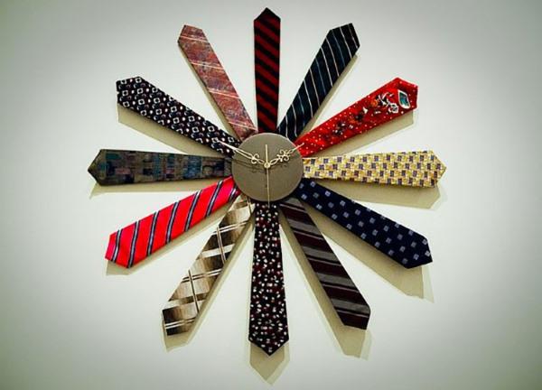 orologio riciclo cravatte