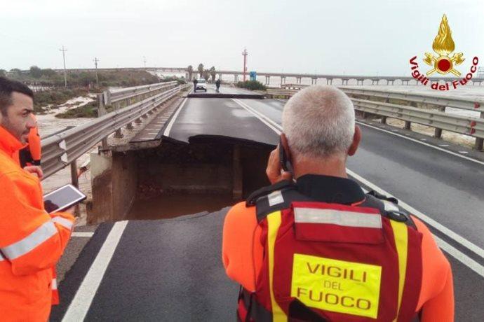 ponte crollato sardegna