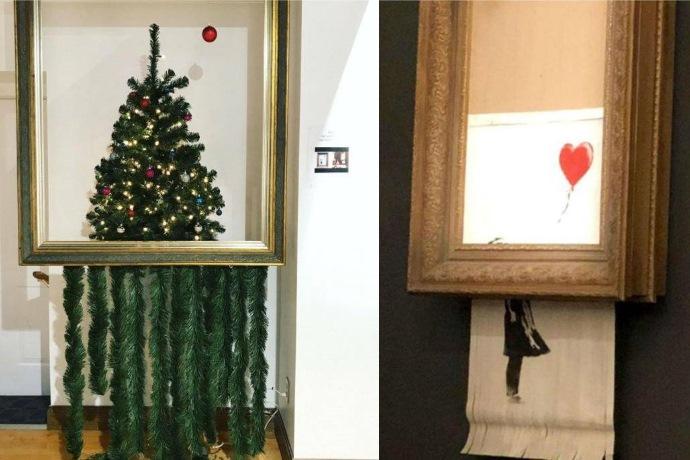 albero di Natale Banksy