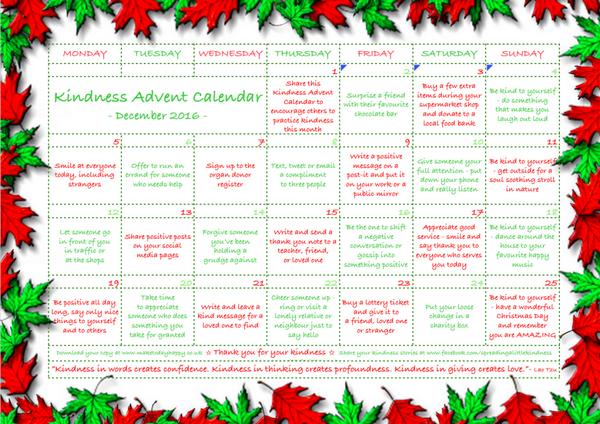 calendario della gentilezza