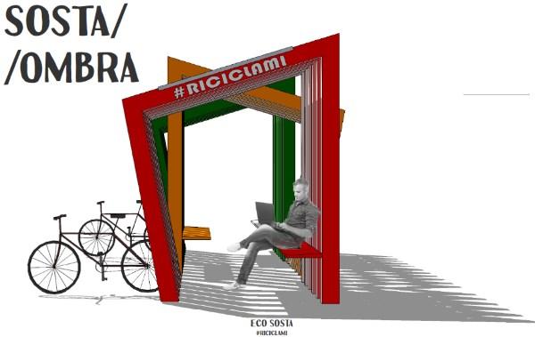 Arredo Urbano In Plastica Riciclata.A Parma L Eco Pensilina In Plastica Riciclata Per Ricaricare Il