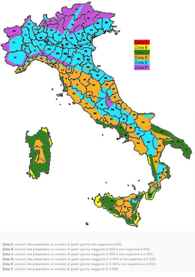 mappa zone climatiche