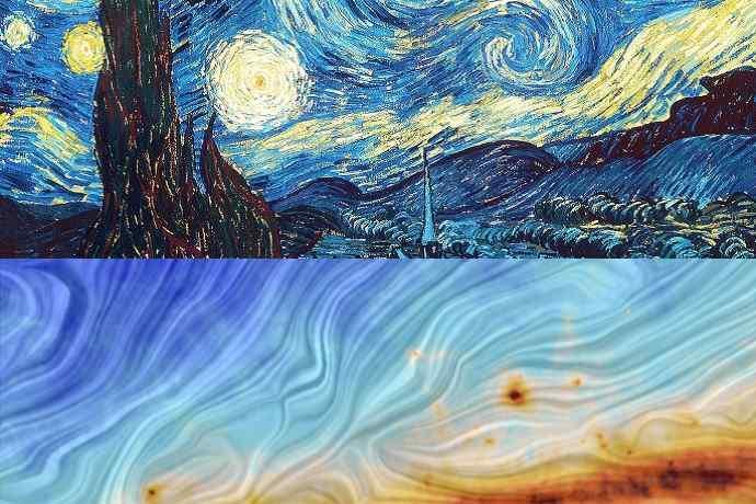 van gogh mappa universo satellite planck
