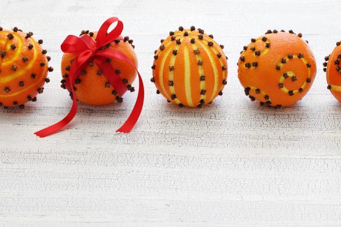 arance decorazioni natale