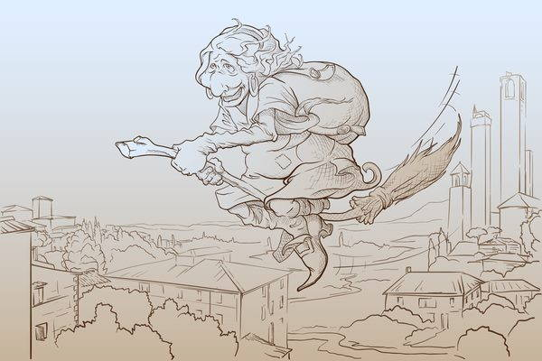 befana illustrazione