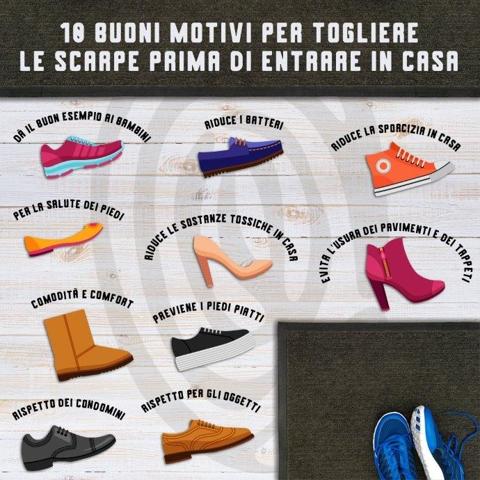 togliere scarpe infografica