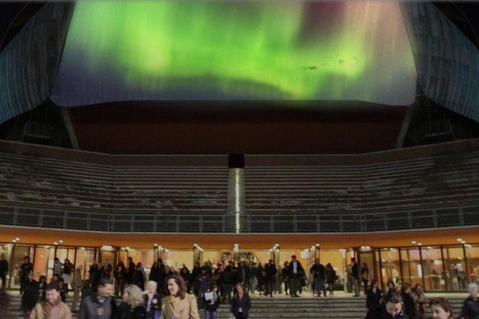aurora boreale diretta streaming roma