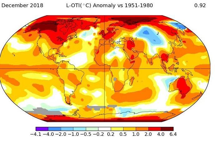2018 anno piu caldo