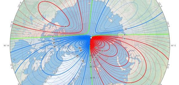 mappa polo nord