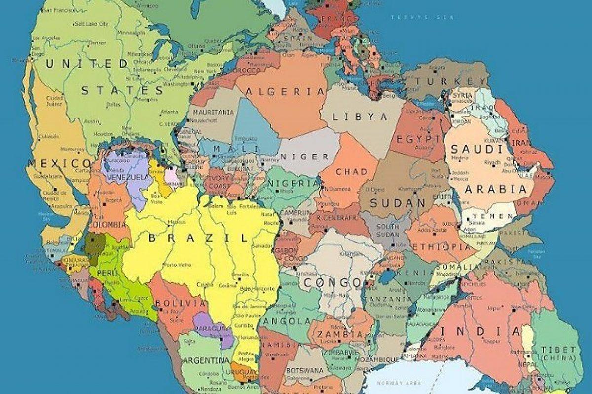 Cartina Mondo Ingrandita.Ecco Com Era Il Mondo 300 Milioni Di Anni Fa Greenme