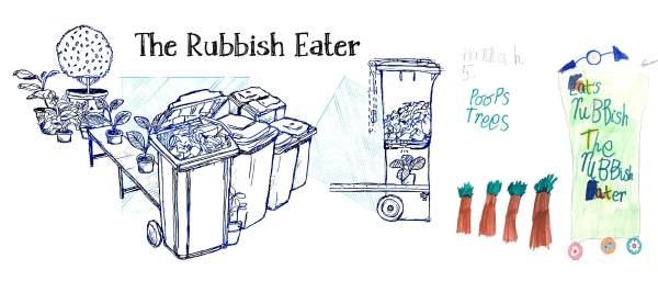 5 mangiatore rifiuti