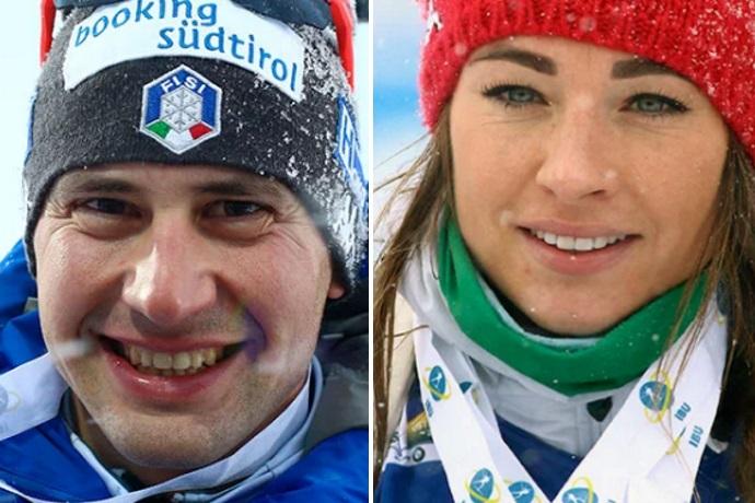 Dorothea Wierer e Dominik Windisch