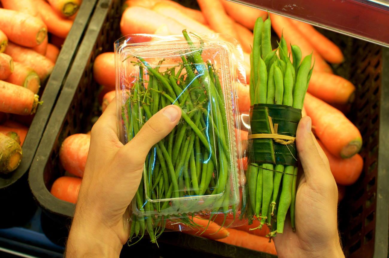verdure senza plastica