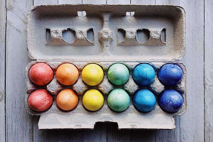 colorare uova pasqua
