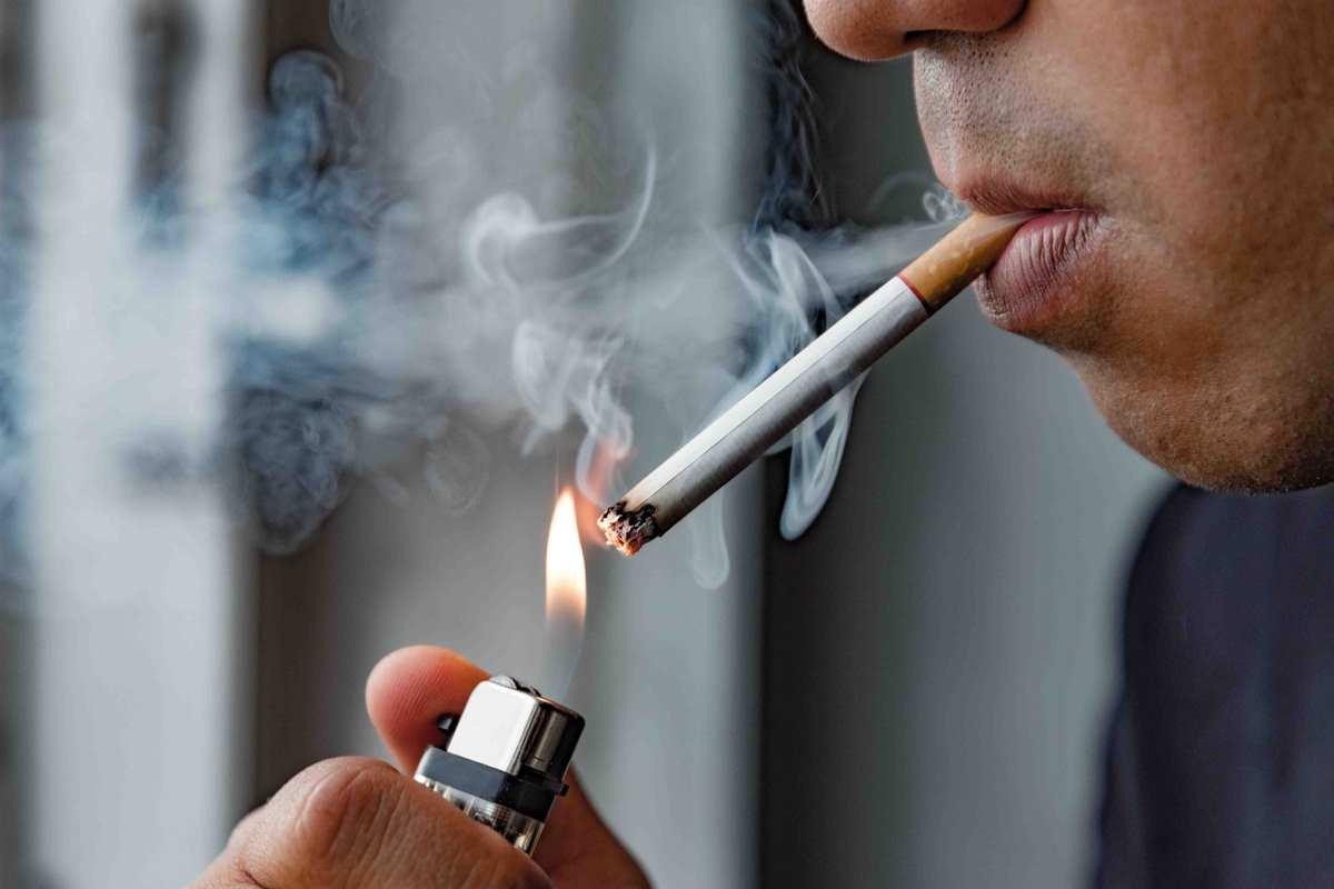 nicotina sul pene)