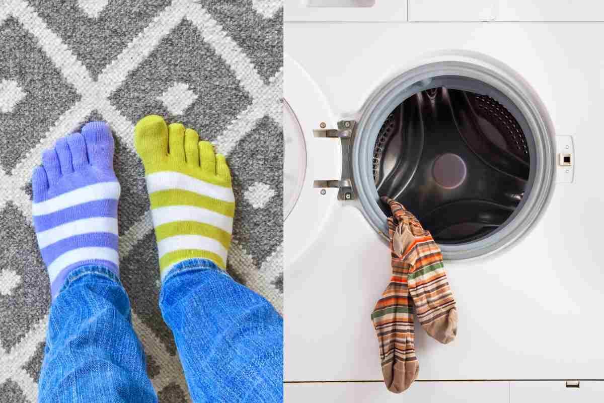 calzini in lavatrice