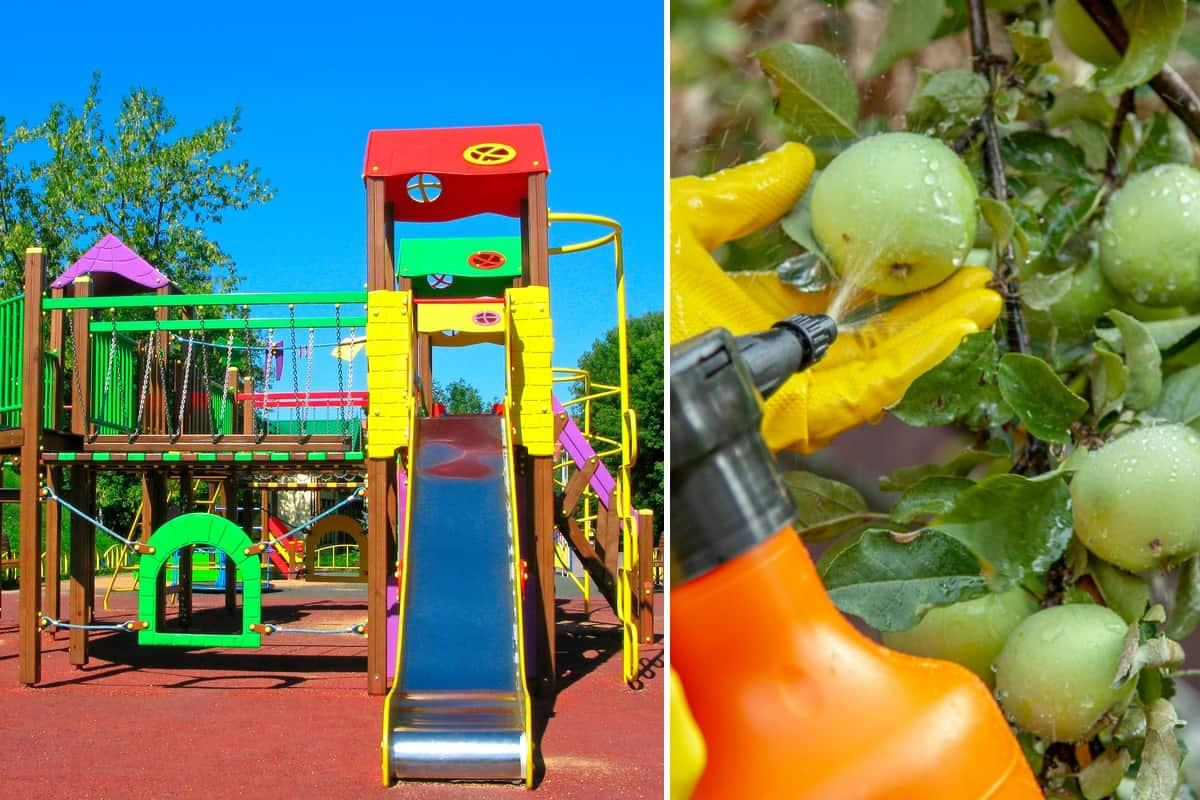 pesticidi parco giochi