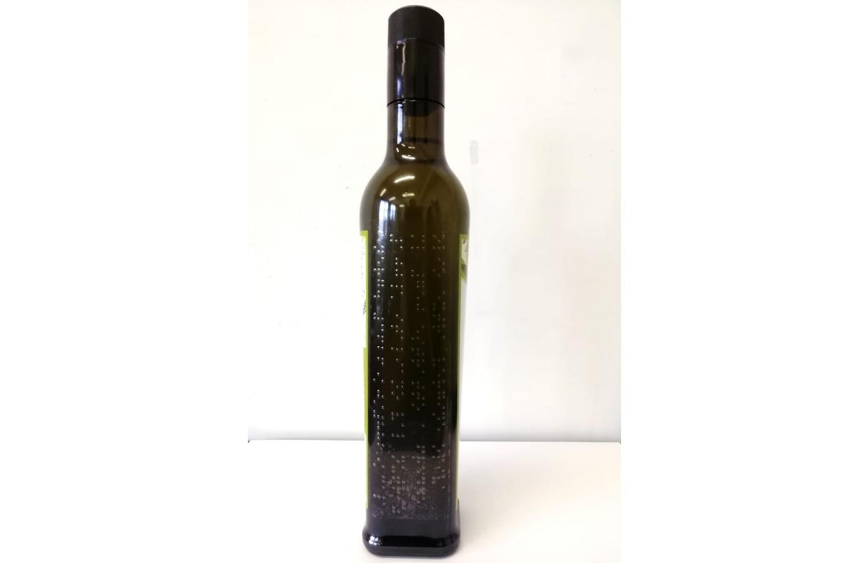 bottiglia olio braille