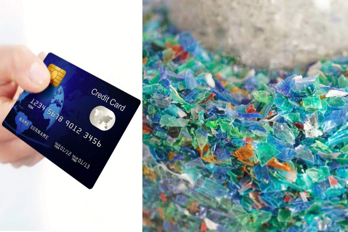 carta di credito microplastiche