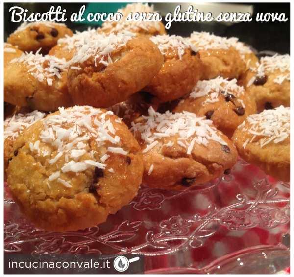 biscotti al cocco e cioccolato senza uova senza burro senza glutine